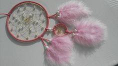 Traumfänger & Mobiles - Mädchentraumfänger in rosa- mit Hellem Topas - ein Designerstück von Traumnetz-com bei DaWanda