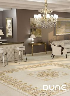 Rosette of classic inspiration reminiscent of the beautiful Greek fretwork for combining with Andria Travertino Rectificado. Interior S, Oversized Mirror, Tile Floor, Neutral, Flooring, Beautiful, Inspiration, Furniture, Home Decor