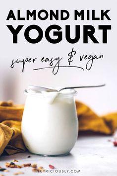 Easy Yogurt Recipe, Instant Pot Yogurt Recipe, Yogurt Recipes, Milk Recipes, Dairy Free Recipes, Vegan Recipes, Sugar Free Yogurt Recipe, Juice Recipes, Kitchen Recipes