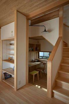 わが家の書斎は特等席 in 2020 Home Room Design, Home Office Design, Home Office Decor, Home Interior Design, Home Decor, Minimal House Design, Tiny House Design, Small Home Offices, Small Loft Apartments