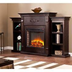 Harper Blvd Dublin 70-inch Espresso Electric Fireplace - 13197002 - Overstock - Great Deals on Harper Blvd Indoor Fireplaces - Mobile