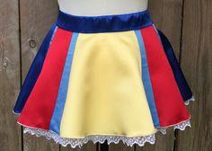 Satin Snow White Inspired Running Skirt by runthekingdom on Etsy https://www.etsy.com/listing/238672829/satin-snow-white-inspired-running-skirt