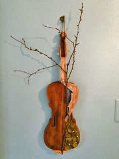 """Altered Violin entitled """"Spring Instrument"""""""