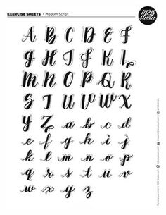 sonjareidenjoy - 0 results for lettering fonts Modern Calligraphy Alphabet, Caligraphy Alphabet, Handwriting Alphabet, Hand Lettering Alphabet, How To Write Calligraphy, Calligraphy Handwriting, Calligraphy Alphabet Tutorial, Brush Letter Alphabet, How To Caligraphy