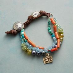 Wanderlust finds lovely expression on Jes MaHarry's 'Free to Roam' charm and gemstone bracelet.