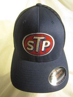 quite nice a96c7 f139b STP Motor Oil Ball Cap Flexfit Mesh Hat Racing NASCAR Embroidered Patch  Blue  STP