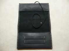 Handcrafted Sauvage Leather Tobacco Pouch Handmade Rolling Cigarettes Case Black | eBay