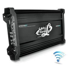 2000 Watt 4 Channel Mosfet Amplifier with Wireless Bluetooth Audio Interface