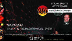 Quick shameless promotion for all of my Johnson County friends, you can hear some of the more club-friendly Mash-Ups featured on this blog live and in person at Asa Sushi & Hibachi Lounge (10088 Woodland Road -Lenexa, KS)  every Friday Night (and most Saturday nights)  We're bringing a Club Experience out to the burbs, think of us as the neighborhood hot spot.  Come out and have some Adventures!!!  BOOKING INFO: www.TheRealDJSteve.com or email: dj@stephenscottsamazingweddings.com