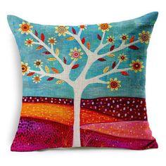 Natural Style Fashion New Cushion Tree Print pillow Bed Sofa Home Decorative Pillow Fundas Para Almofadas Cojines