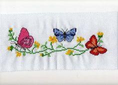Counted Cross Stitch Kits: Run Butterfly Cross Stitch, Cross Stitch Rose, Cross Stitch Animals, Cross Stitch Flowers, Counted Cross Stitch Kits, Cross Stitch Charts, Cross Stitch Designs, Cross Stitch Patterns, Cross Stitching