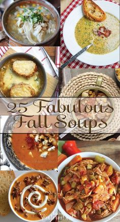 25 Fabulous Fall Soup Recipes - These are some of the best ever soup recipes! #Soup #Recipe #Soup Recipes by dollie