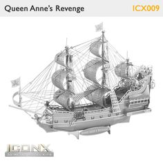 Metal Earth Models within the Iconx- Queen Anne Revenge. From high quality metal sheets to amazing models, no glue nor solder required.