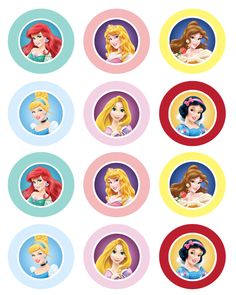Cupcake toppers prinsessen
