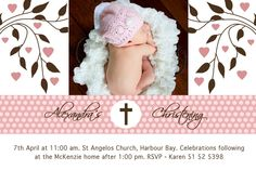 baptism invitations   Angelina Plum: Christening and Naming Day Invitations and Thank You ...