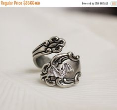 Bat Spoon Ring Silver Victorian Gothic by WearitoutJewelz on Etsy
