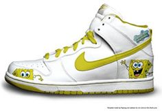 Mens Nike Dunk Sneakers Spongebob White Cartoon      #White  #Womens #Sneakers