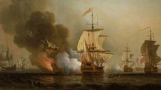 Fighting off Cartagena, 28 May 1708.  Columbia says they found the shipwreck of the San Jose.