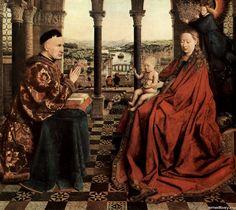 Ян ван Эйк. Мадонна канцлера Ролена 1435, Музей Лувр, Париж.