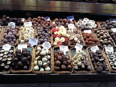 Chocolate shop in Barcelona market