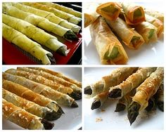 Home Cooking In Montana: Phyllo Wrapped Asparagus with Parmesan and a Hint of Chipotle