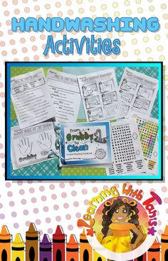 Do you need a hand washing activity? Then you came to the right place. In this bundle their is a hand washing book and other activities that come with it to add more fun!  Click this photo to learn more about this product at my store!