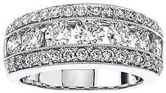 jcpenney FINE JEWELRY 2 CT. T.W. Diamond 14K White Gold Band on shopstyle.com