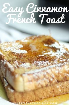 TT s Simple Cinnamon French Toast is a super simple and classic recipe that is perfect for breakfast on busy mornings via heavenlyrecipe Perfect French Toast, Make French Toast, Cinnamon French Toast, Simple French Toast Recipe, The Best French Toast Recipe Ever, Super Simple, Homemade French Toast, Blueberry French Toast Casserole, Blueberry Breakfast