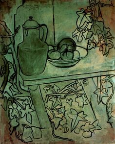 Pablo Picasso - Still life with tomatoes, 1920 (cubist)
