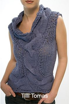 Ravelry: Indi Cable Tank #240 (Archived) pattern by Tilli Tomas