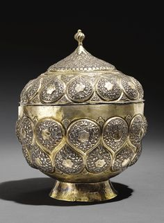 A Parcel-Gilt Silver Bowl with Cover, Turkey, 17th century | lot | Sotheby's