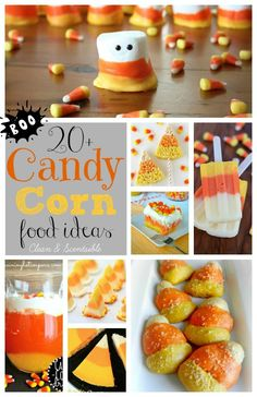 Lots of fun candy corn inspired food ideas!  #Halloween