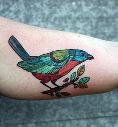 color bird tattoo