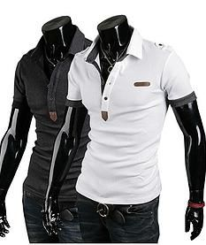 e0f455b23 Stylish Slim Fit Sexy Casual Sport Mens Males Polo T-shirts Tee Tops White  Grey. Lucas Freitas · roupas masculinas