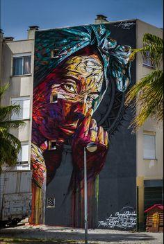 Incredible art-mural by talented street artist