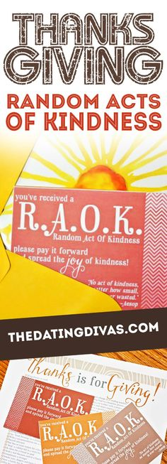 What an AMAZING list of ideas for Random Acts of Kindess! Can't wait to make someone's day.