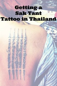 Traditional Thai tattoo Sak Yant is a yantra tattoo (sak=tatoo and yant=yantra…