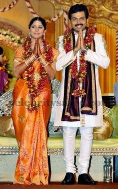 Karthi wife Bridal Saree | Saree Blouse Patterns