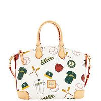Dooney & Bourke Oakland A's bags with accessories!  Must have....I WANT!!!!! I have been waiting for this for what seems like forever