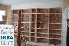 Tutorial on how to #ikeahack built-in Billy bookshelves. Lots of problem solving tips.