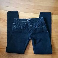 Levi's Too SuperLow 7S black, worn it once. Levi's Jeans Straight Leg