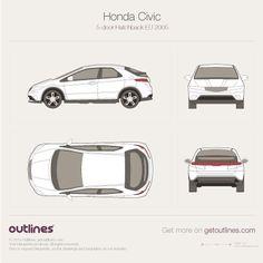 Honda Civic drawings