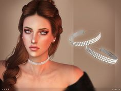 Sims 4 CC's - The Best: toksik - Luxe Choker