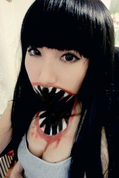 Shark face.... This is the sort of thing I need to do for my shark costume