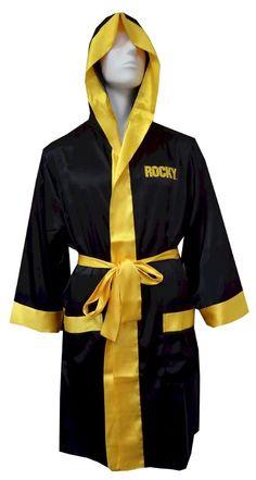e959df5eb7 Rocky Italian Stallion All-over Print Yellow Polysatin Adult Robe ...