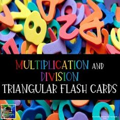 Multiplication and Division Flash Cards Math Resources, Math Activities, Division Flash Cards, Frindle, Math Intervention, Fact Families, 4th Grade Classroom, Math Test, Multiplication And Division