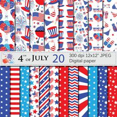 Check out this item in my Etsy shop https://www.etsy.com/listing/385954584/4th-of-july-digital-paper-set-patriotic