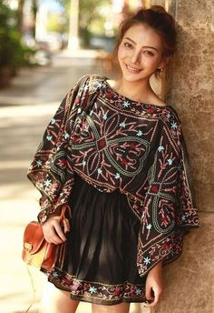 * Bohemian Tunic Dress :: Hippie chic ::modern vintage :: gypsy style :: boho chic :: hmong ethnic ::street style :: geometric and floral outfits:: Free Spirit :: bohemian clothes Bohemian Dresses Short, Trendy Dresses, Boho Dress, Chic Dress, Maxi Dresses, Hippy Dress, Casual Dresses, Hippie Dresses, Boho Skirts