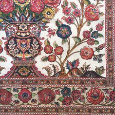 Printed on heavy linen and linen voile widht Indian Summer, Fabric Wallpaper, Flower Designs, Wool Rug, Carpets, Pakistani, Persian, Glaze, Bohemian Rug