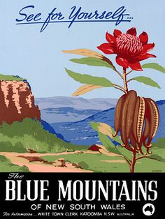 Blue Mountains, NSW Australia. 'See for Yourself' http://vintagevenus.com.au/products/vintage_poster_print-tv922
